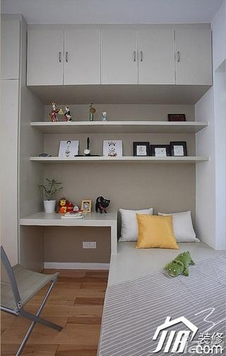三米设计简约风格公寓经济型130平米卧室卧室背景墙效果图