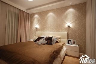 简约风格三居室富裕型卧室壁纸效果图