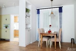 田园风格别墅富裕型140平米以上餐厅隔断窗帘效果图
