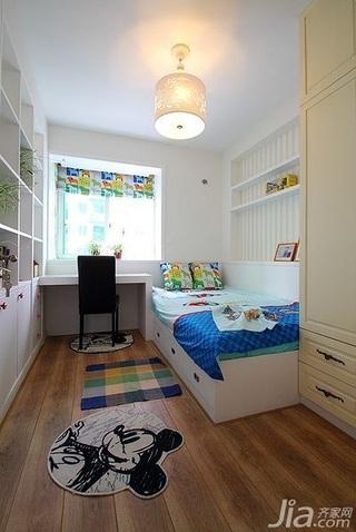田园风格别墅富裕型140平米以上儿童房卧室背景墙儿童床效果图
