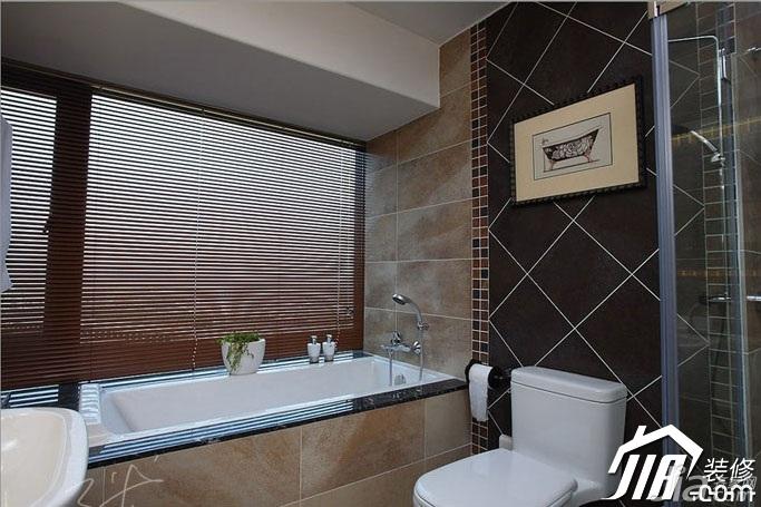 三米设计中式风格公寓富裕型130平米卫生间装修效果图
