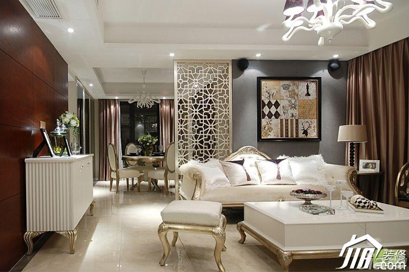 欧式风格三居室奢华豪华型客厅沙发背景墙沙发图片