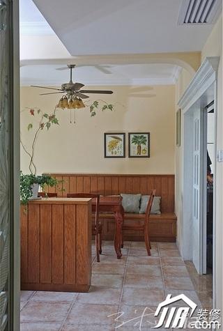 三米设计三居室富裕型130平米餐厅设计图