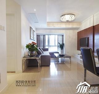简约风格三居室时尚暖色调100平米客厅茶几效果图