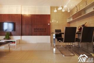 简约风格三居室时尚暖色调100平米餐桌效果图