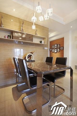 简约风格三居室时尚暖色调100平米餐厅餐桌效果图