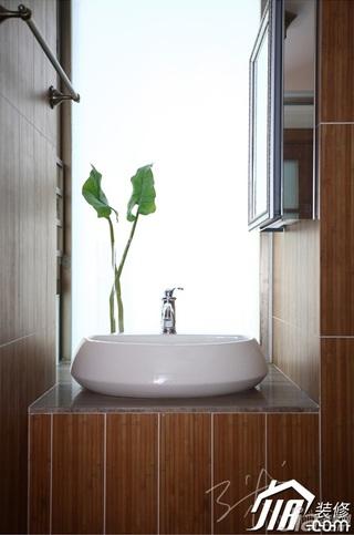 三米设计东南亚风格三居室富裕型洗手台图片