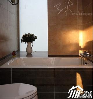 三米设计东南亚风格三居室富裕型卫生间装潢