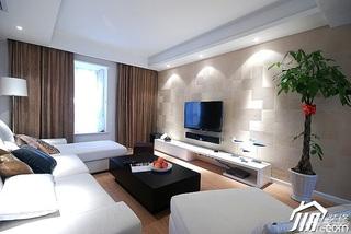 简约风格三居室富裕型客厅壁纸效果图