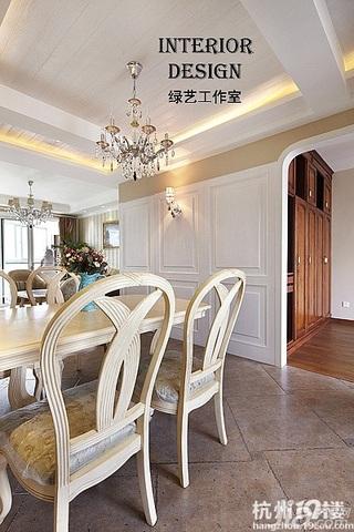 美式乡村风格时尚米色富裕型110平米餐厅灯具效果图