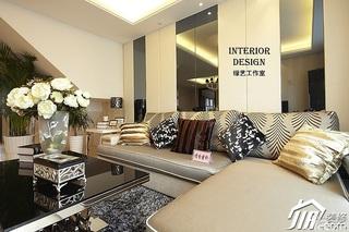 别墅古典米色豪华型140平米以上客厅沙发背景墙沙发效果图