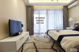 别墅古典米色豪华型140平米以上卧室窗帘效果图