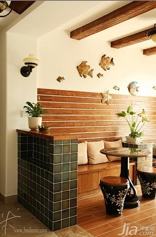 三米设计美式乡村风格三居室富裕型阳台隔断装修图片