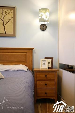 三米设计美式风格公寓富裕型120平米卧室灯具效果图