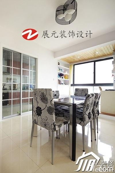 简约风格别墅温馨暖色调富裕型140平米以上餐厅餐桌图片