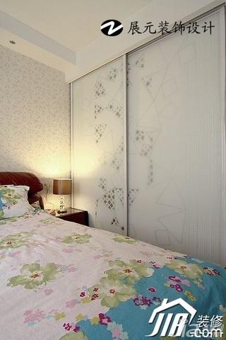 简约风格温馨富裕型90平米卧室衣柜设计图纸