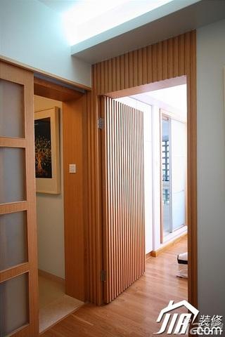 三米设计简约风格二居室经济型90平米过道效果图