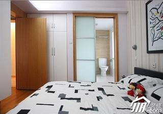 三米设计简约风格二居室经济型90平米卧室改造