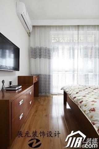 简约风格公寓白色富裕型卧室电视柜效果图