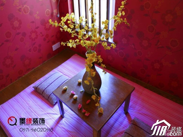 田园风格公寓暖色调5-10万50平米地台装修效果图