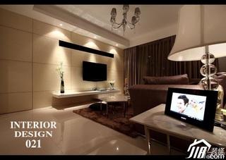 三居室时尚20万以上130平米客厅电视背景墙电视柜效果图