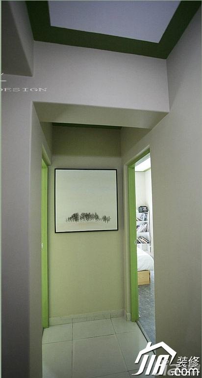 风格公寓经济型90平米过道装修效果图高清图片