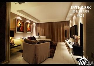 混搭风格三居室时尚豪华型客厅婚房家装图片