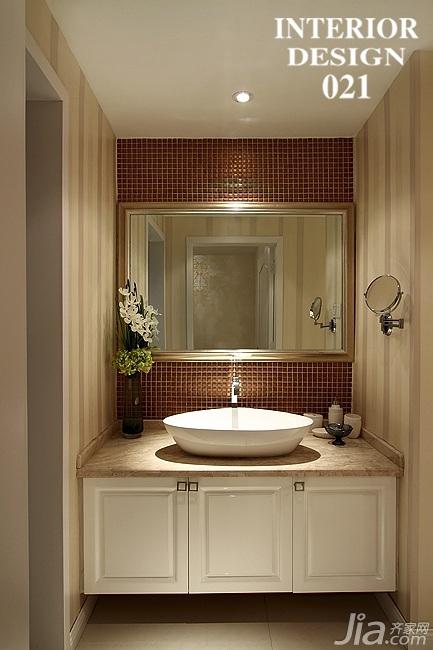 简欧风格三居室20万以上卫生间洗手台效果图