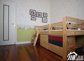 三米设计美式乡村风格公寓经济型130平米儿童房照片墙壁纸图片