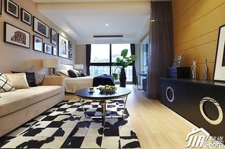 公寓时尚暖色调富裕型140平米以上客厅照片墙沙发效果图