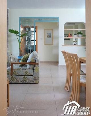 三米设计混搭风格公寓富裕型客厅隔断装修效果图