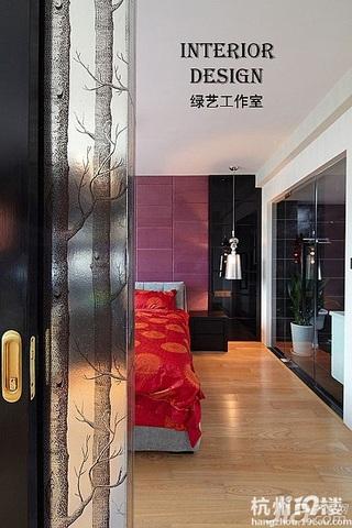 简约风格公寓时尚白色富裕型100平米卧室效果图