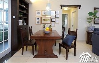 三米设计混搭风格公寓富裕型130平米餐厅照片墙餐桌图片