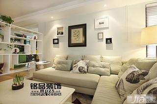 混搭风格三居室10-15万客厅隔断沙发图片