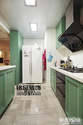 混搭风格三居室10-15万厨房橱柜图片