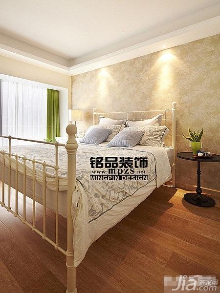 混搭风格三居室10-15万卧室壁纸效果图