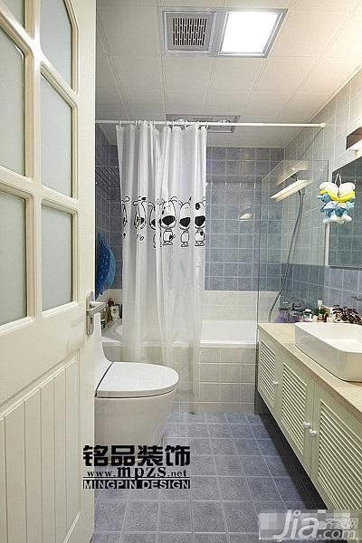 混搭风格三居室10-15万卫生间洗手台效果图
