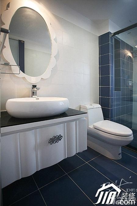 三米设计简约风格公寓经济型130平米卫生间洗手台效果图