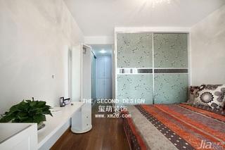 欧式风格公寓时尚咖啡色富裕型110平米卧室衣柜设计图纸