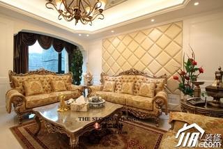 欧式风格奢华金色豪华型140平米以上客厅沙发背景墙沙发效果图