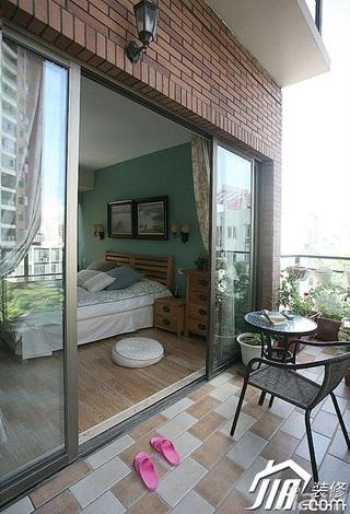 三米设计简约风格公寓经济型130平米露台茶几效果图