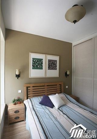 三米设计简约风格公寓经济型130平米卧室床效果图
