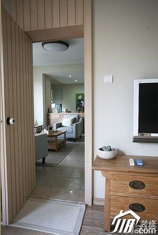 三米设计简约风格公寓经济型130平米效果图