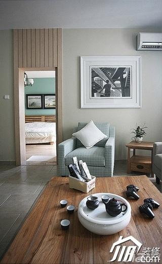 三米设计简约风格公寓经济型130平米客厅沙发图片