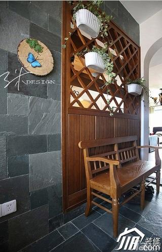 三米设计美式乡村风格公寓富裕型130平米门厅隔断设计