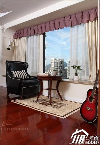 三米设计美式风格二居室经济型130平米过道沙发效果图