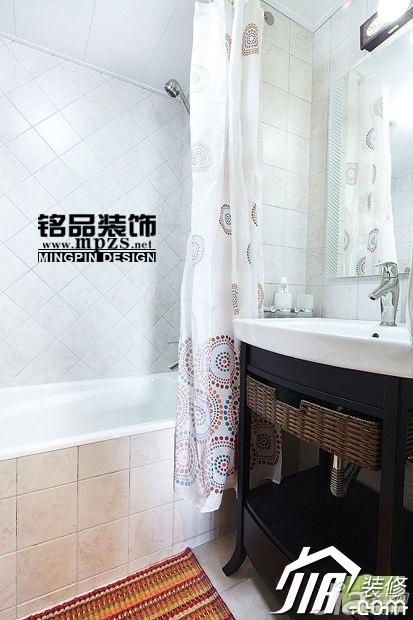 中式风格三居室5-10万卫生间洗手台效果图
