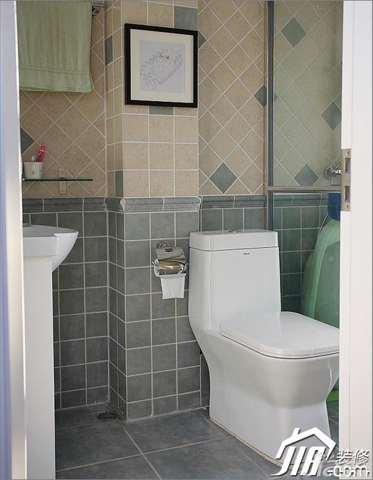 三米设计混搭风格别墅富裕型卫生间效果图