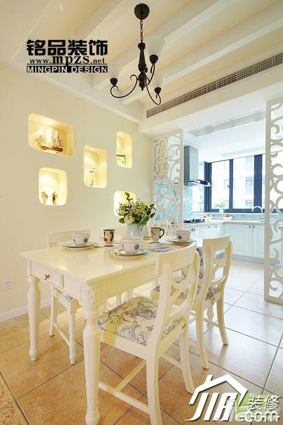 田园风格二居室15-20万90平米餐厅隔断餐桌效果图
