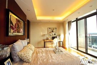 新古典风格别墅豪华型140平米以上卧室窗帘图片
